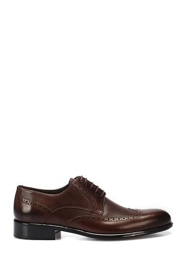 İnci %100 Deri Bağcıklı Klasik Ayakkabı Kahve